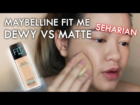 REVIEW JUJUR : Maybelline FIT ME Foundation Matte vs Dewy