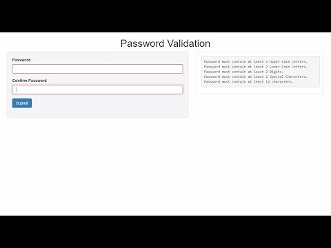 Password Strength Match Validation with jQuery