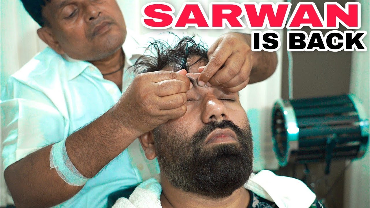 ASMR INTENSE HEAD MASSAGE BY 💈SARWAN BARBER💈 INDIANBARBER | TAPPING KING