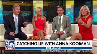 Anna Kooiman 25 Weeks Pregnant Fox and Friends Visit New York City