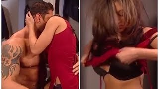Melina and Batista have sex in the locker room