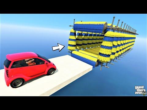 GTA 5 : Micro Car Drive Through Brush Tunnel Parkour