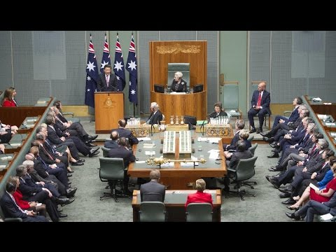 Xi delivers speech at Federal Parliament of Australia