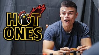 U.S. Airman Questioned While Eating Hot Wings | Hot Ones Challenge vs Air Force