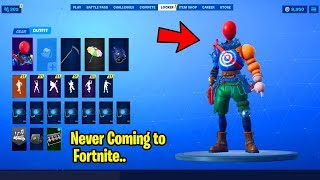 Epic Decided to NEVER RELEASE these Skins in Fortnite.. (Airhead, Astro Assassin, Facet..)
