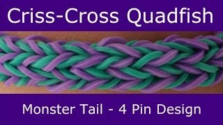 Monster Tail®  Criss-Cross Quadfish Bracelet by Rainbow Loom