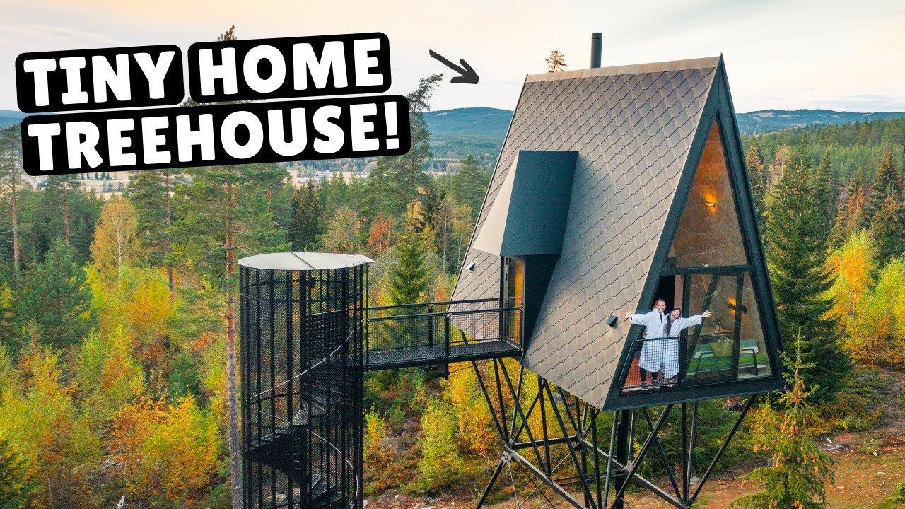 Our Norwegian Tiny Home Treehouse Full Tour Youtube