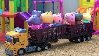 Playground slide Assembly Peppa Pig and Friends Toys Video for Children
