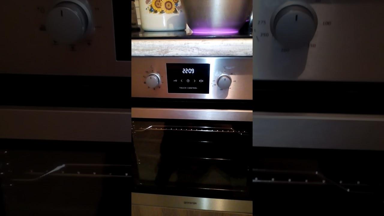 как включить духовку gorenje инструкция видео