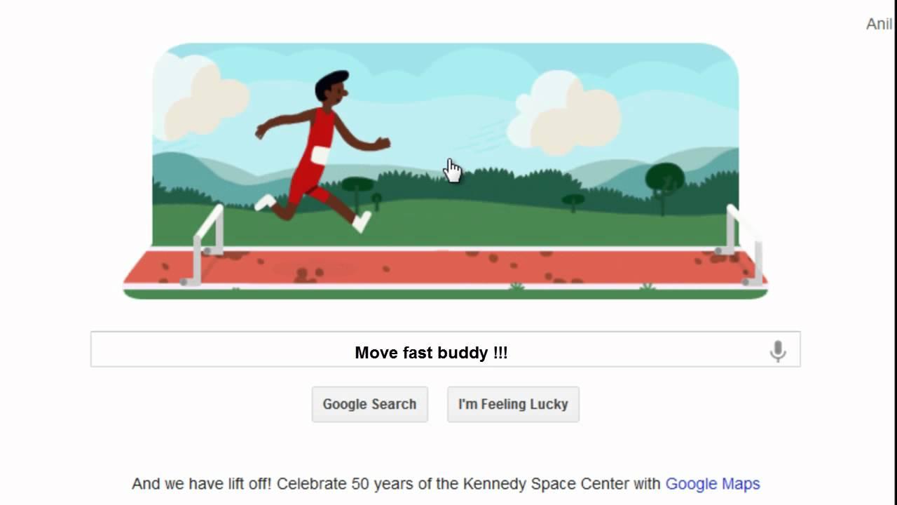 Google Doodle Hurdles 2012 Fast Running Way Youtube