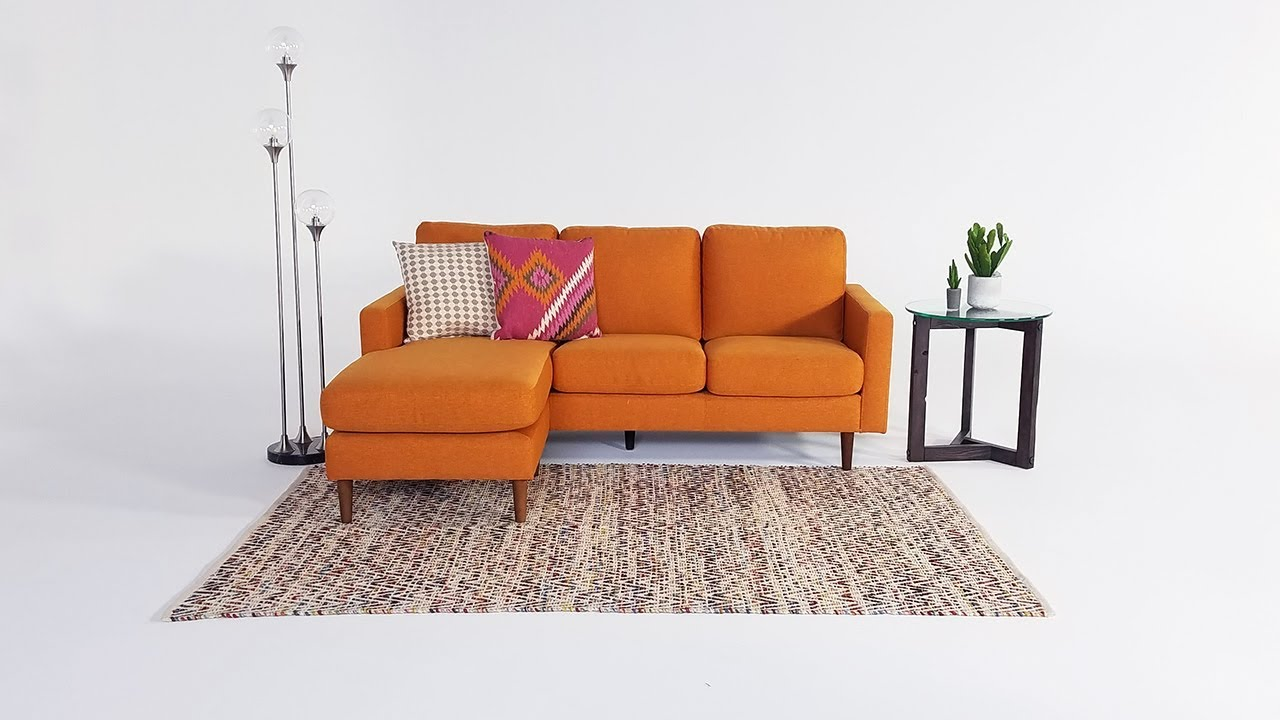 David Sunset Reversible Sofa Chaise  Living Spaces Youtube