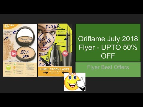 Oriflame 2018 July Flyer   Special Dhamaka Offers