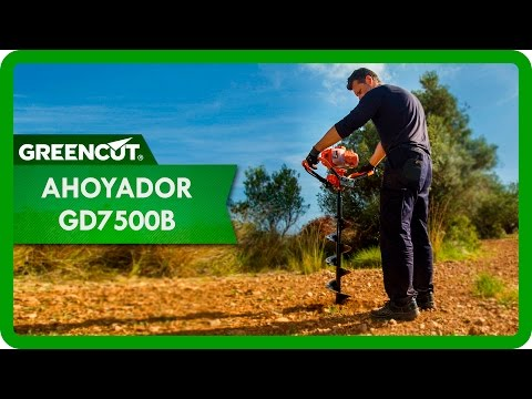 Greencut GD7500B | Taladro de tierra ahoyador - plantador, cilindrada de 75 cc con prolongador