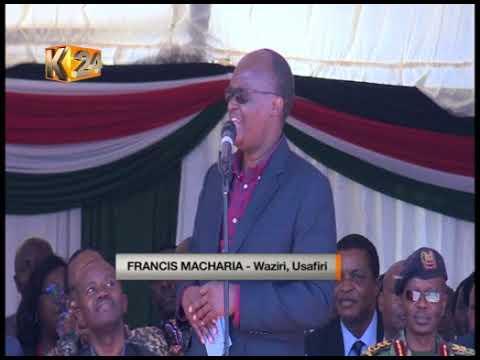 Rais Uhuru akagua maendeleo ya awamu ya pili ya ujenzi wa reli ya SGR