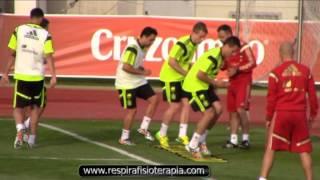 Entrenamiento y Ejercicios con la Seleccion Española de Futbol