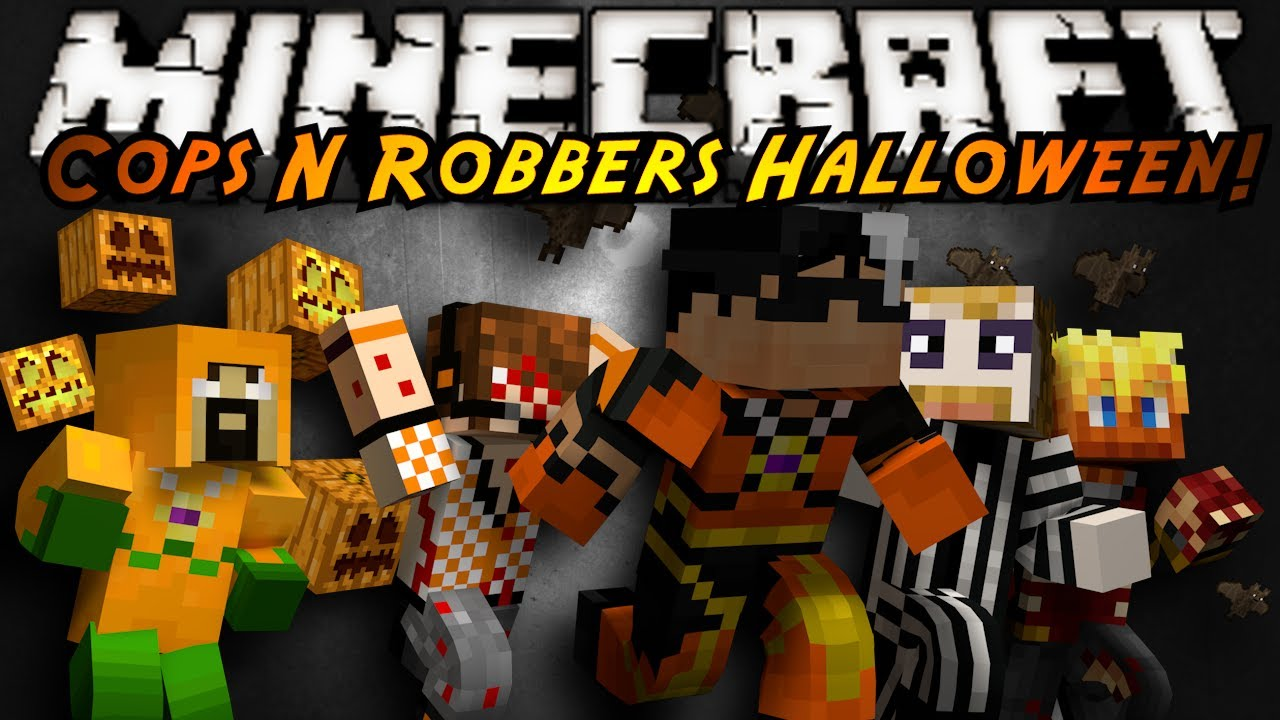 Minecraft Mini-Game : COPS N ROBBERS! (HALLOWEEN SPECIAL