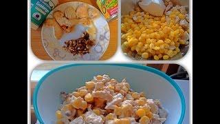 Диетический салат из курицы/ Правильное питание/Блюдо за 5 минут
