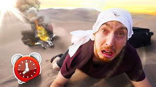 OVERNIGHT SURVIVAL CHALLENGE IN DESERT! *SIMULATION*