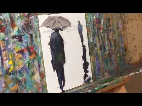 Figurative Modern Oil Painting Demo by Artists JOSE TRUJILLO