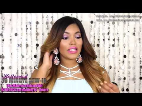 Best Virgin Malaysian Hair for Coloring  Ten Minute Sew In