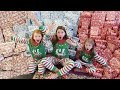 Christmas Morning Special Opening Presents - Sisters Biggest Surprise Ever