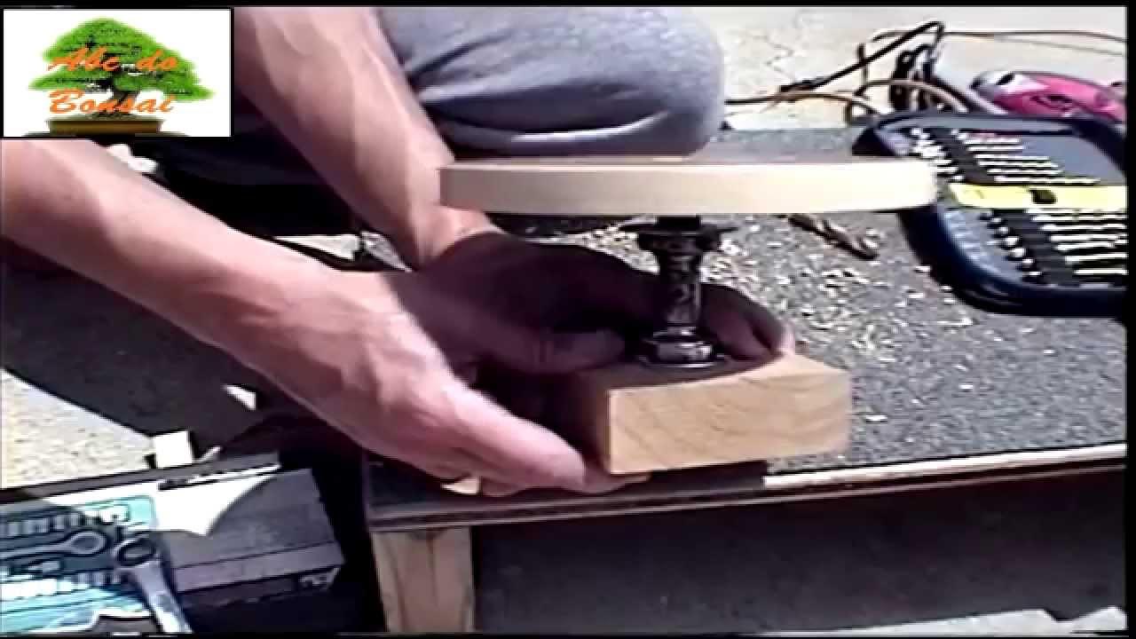 Como fazer uma mesa girat ria para bonsai 05 youtube - Mesa de centro giratoria ...