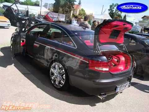 Тюнинг Ауди А6 Tuning Audi A6 and light drum and bass