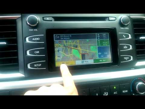 2014 2015 TOYOTA HIGHLANDER OEM Integrated navigation  demo1