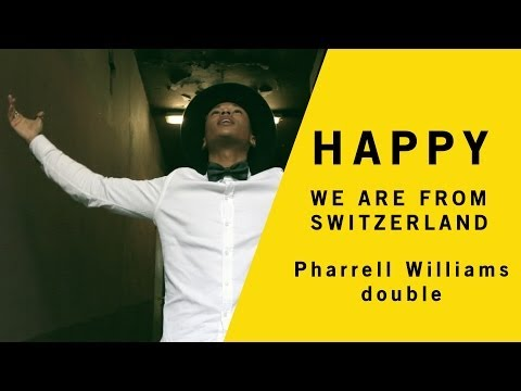 ► Happy Pharrell Williams - We are from Lausanne, Genève, Luzern #HAPPYDAY