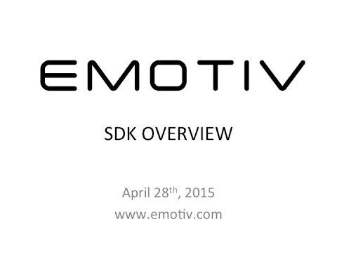 Emotiv SDK Overview 4-28-2015