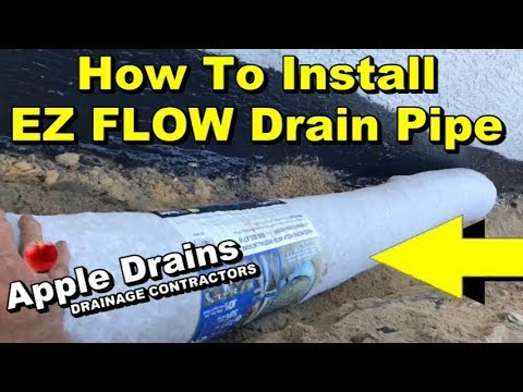 How to Install EZ FLOW Drain Pipe Exterior Foundation Waterproofing