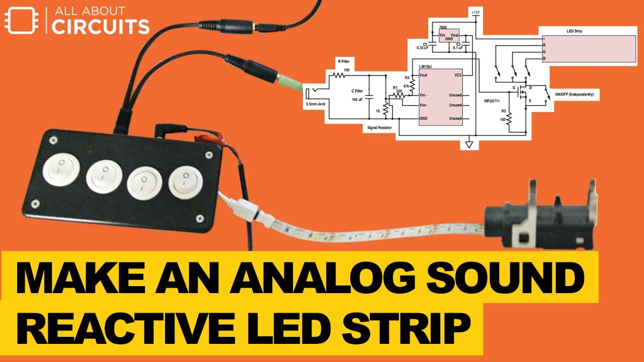 Led Lichtleiste Einfliesen Make An Analog Sound Reactive Led Strip By All About Circuits