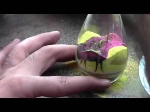 Рисунки песком в бутылке