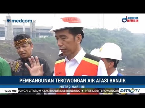 Jokowi Tinjau Proyek Terowongan Air Atasi Banjir Rutin Di Bandung