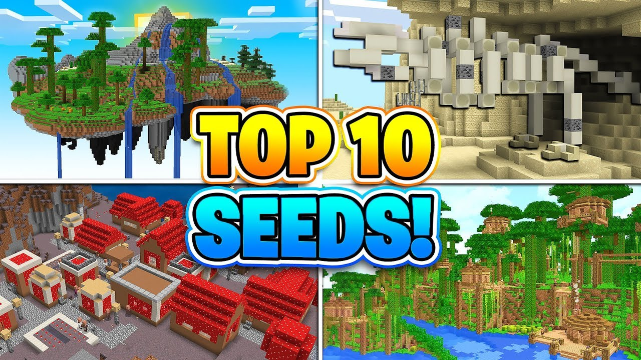 TOP 12 BEST SEEDS FOR MINECRAFT! (Pocket Edition, PS12, Xbox, Switch, PC)