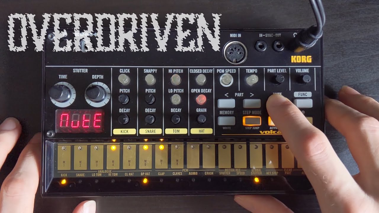 Shallowed Overdriven Lo-Fi Techno Jam on the Korg Volca Beats (Analogue Rhythm Machine)