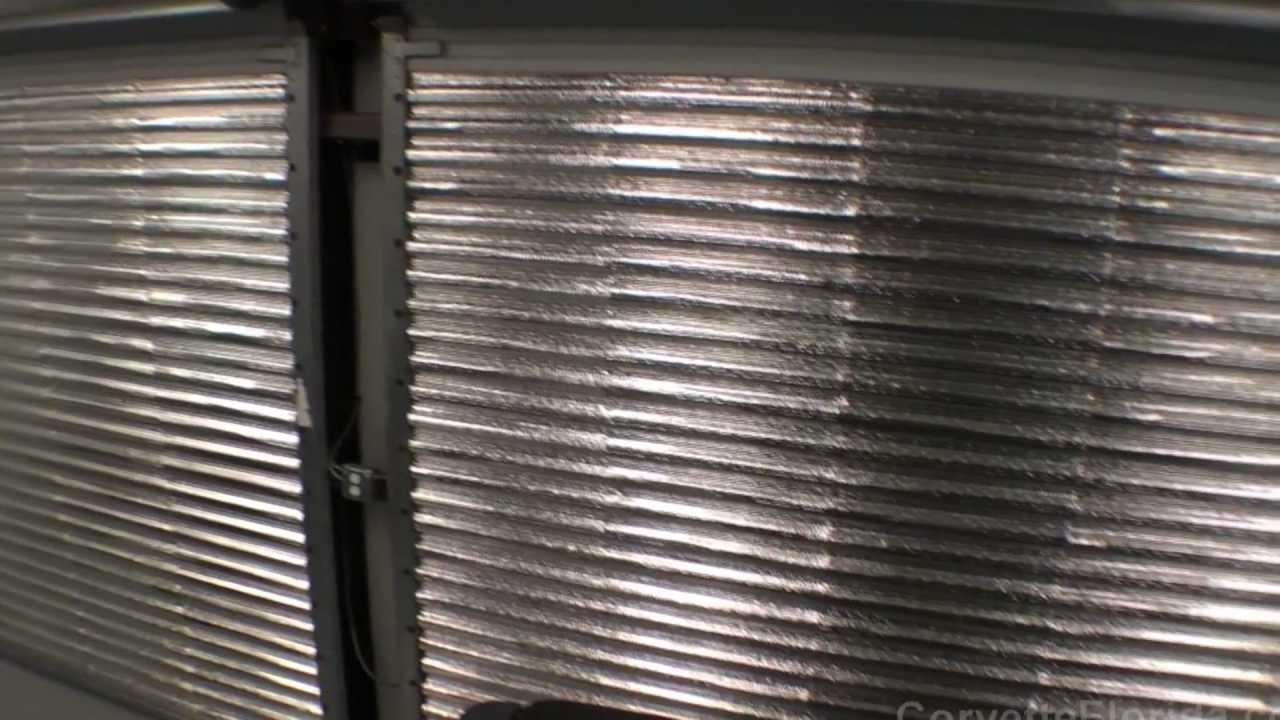 Garage door insulation installed - YouTube