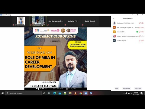 RIMS College Bangalore A Seminar for MBA students by Irshant Gautam