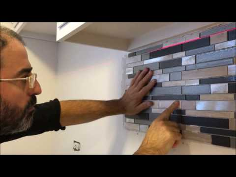 How to Install a Glass Tile Backsplash/Resourceful