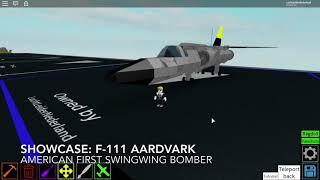 Roblox showcase: The F-111 Aardvark