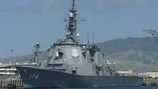 US navy destroyers and cruisers in action