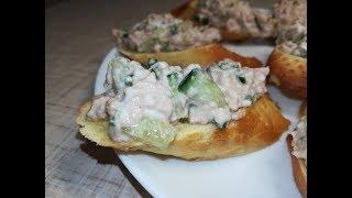 Бутерброды с печенью трески по-мурмански - Sandwiches with cod liver.