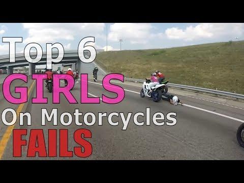 Top 6 GIRL On Motorcycle FAILS Compilation Biker GIRLS Tandem FAIL Wheelie 2up Bike Stunts Videos