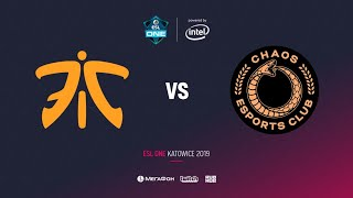 Fnatic vs Chaos, ESL One Katowice 2019, bo2, game 2, [Adekvat]