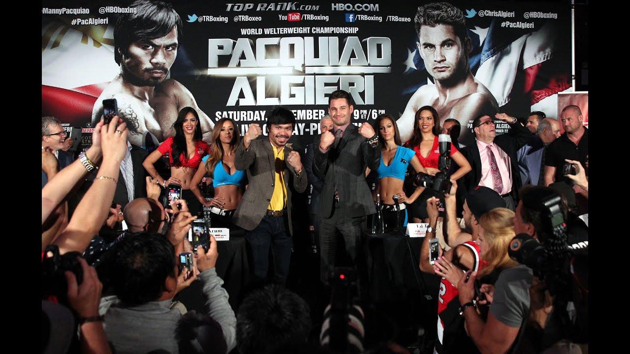 The Full Pacquiao-Algieri Press Conference in New York City