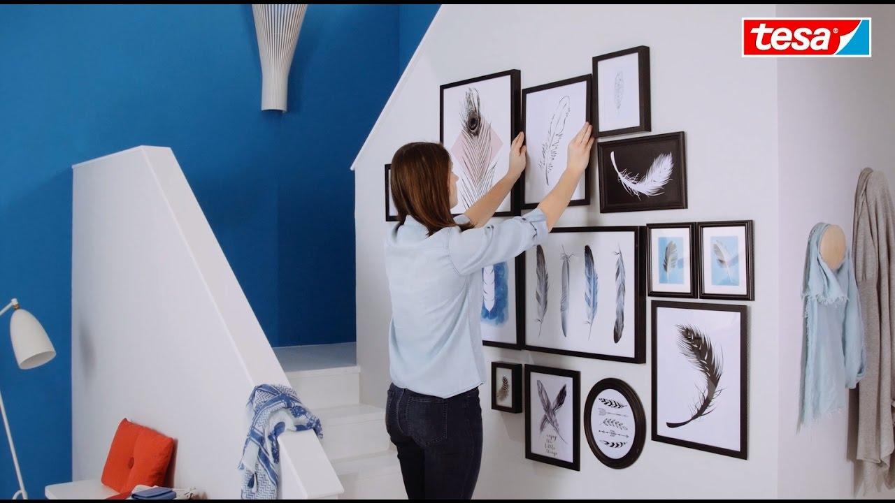 tesa DIY-Tipp: Wandcollage selber machen - YouTube