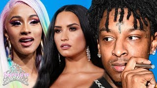 Celebrities react to 21 Savage getting deported to the UK | Cardi B, Demi Lovato, Wale, etc.