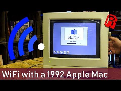 Wifi on a 1992 Apple Mac & BBS fun | Tech Nibble
