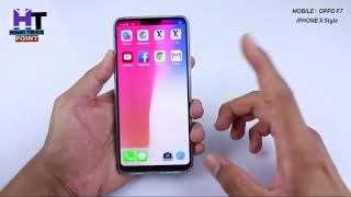Find Anime iphone x theme on oppo f7