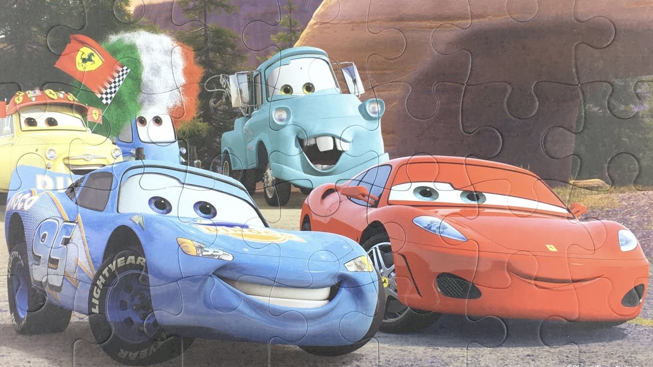 Cars Puzzles Blue Lightning McQueen, Blue Mater Cars - Пазлы Тачки Молния Маккуин Disney PIXAR CARS